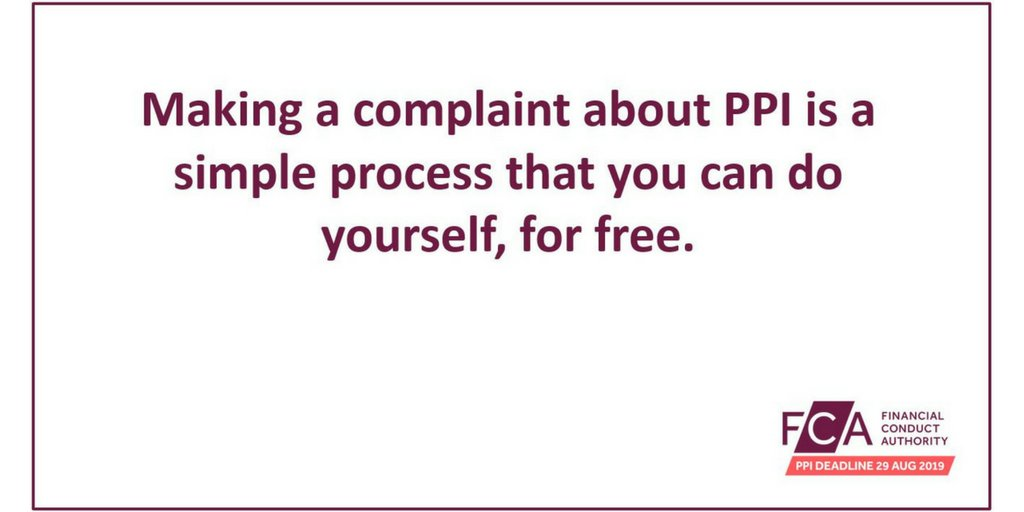 The fca ppi deadline on twitter dan2dark hi dan a complaints led a complaints led approach to ppi has been taken for a number of reasons including that not all ppi was mis sold 12 solutioingenieria Gallery