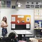 6th Grade book presentations.