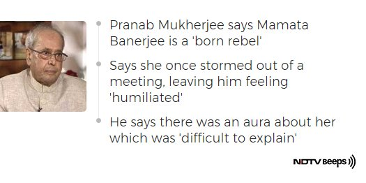 Pranab Mukherjee On When He Was 'Humiliated And Insulted' By Mamata Banerjee https://t.co/PLygslenwU #NDTVNewsBeeps