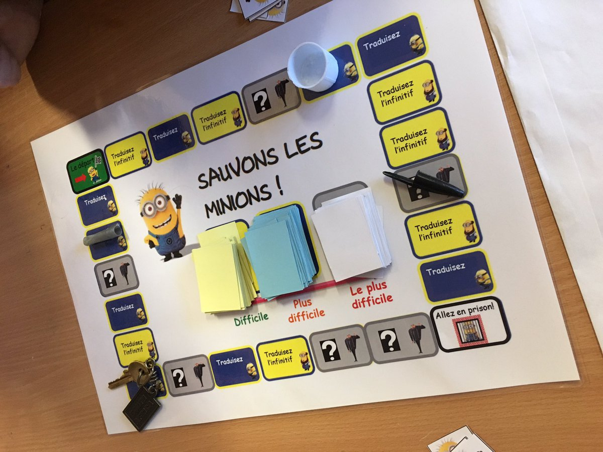 Y9 board game today to practise the future tense! #minions #mfltwitterati<br>http://pic.twitter.com/wlPSgMHuL1