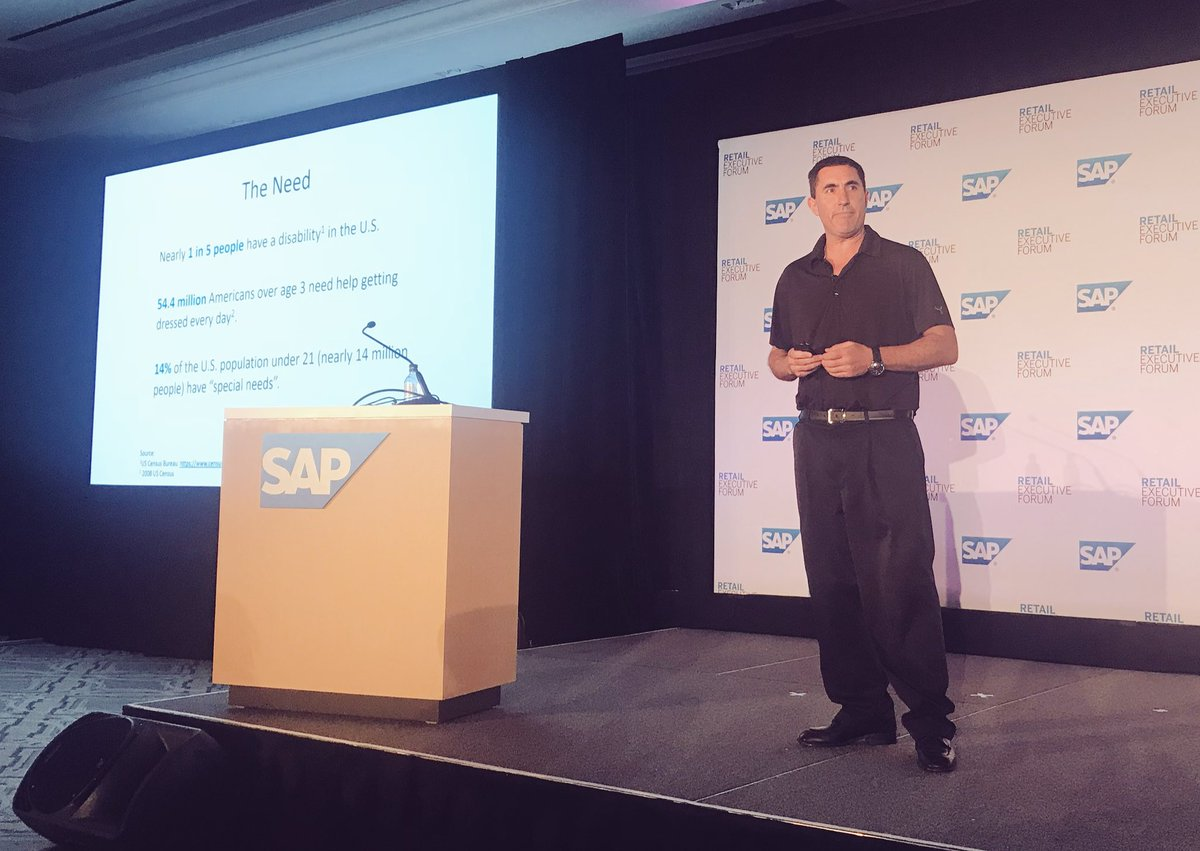 Catering to customers with special needs - the inspiring story of Zappos Adaptive, shared by Saul Dave @sedave @Zappos #SAPREF #retail <br>http://pic.twitter.com/2CQ3Nktg5p