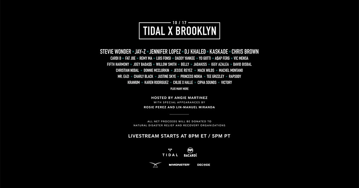 Don't miss our performance at #TIDALXBrooklyn! You can watch the whole show on @TIDALHiFi's exclusive live stream: https://t.co/LTgVvxVPVU
