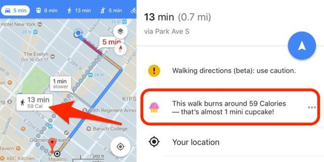 People are furious with #GoogleMaps for testing a feature that shows how many mini cupcakes you could burn on a walk  http:// insder.co/2ypinb0  &nbsp;  <br>http://pic.twitter.com/fbKq9RlMaf
