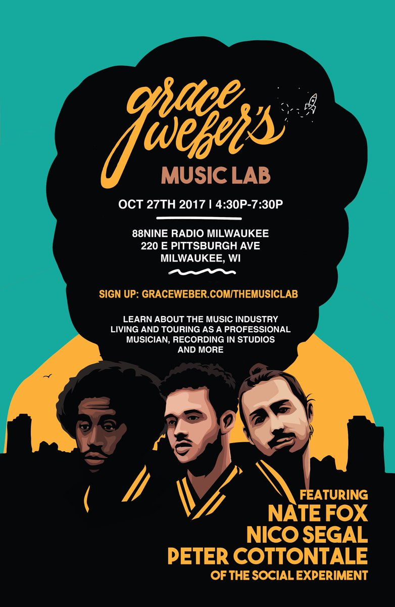 MKE HS students! Sign up now for The Music Lab Oct 27 ft @nicosegal @alldayrecess @RealCottontale ! #getready   http:// graceweber.com/themusiclab  &nbsp;  <br>http://pic.twitter.com/2IrNdbBvig