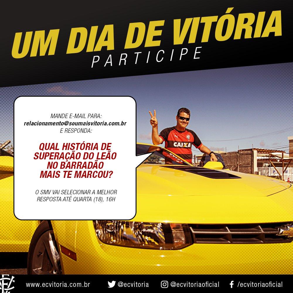 NOITE DE VITÓRIA - Sócio vencedor da ação 'Um Dia de Vitória' terá tratamento vip no reencontro com o time.  💻 https://t.co/eaE3A6rY7j.