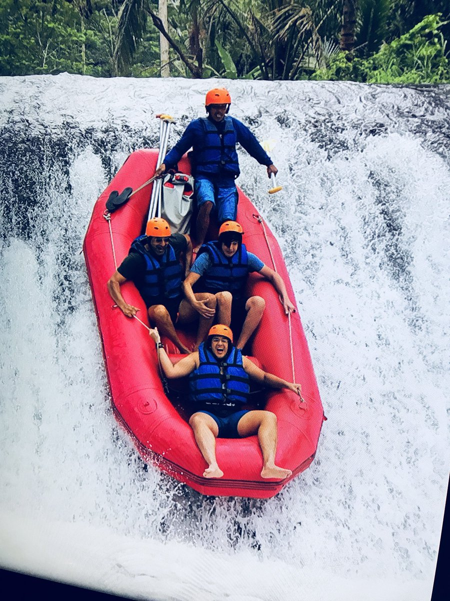 White water rafting with my boys Tahmoor and Akbar 15 foot drop Tahmoor is not looking that comfortable. #myboys#funtimes