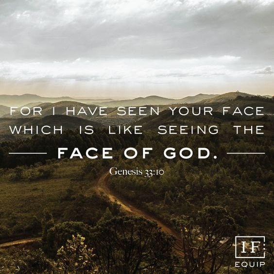 For I have seen your face is like seeing the face of God. #Genesis33:10  #CrossEqualsLove #TrustGod #ReadingWithJoost #UnfailingLove<br>http://pic.twitter.com/WSR12wGEWs