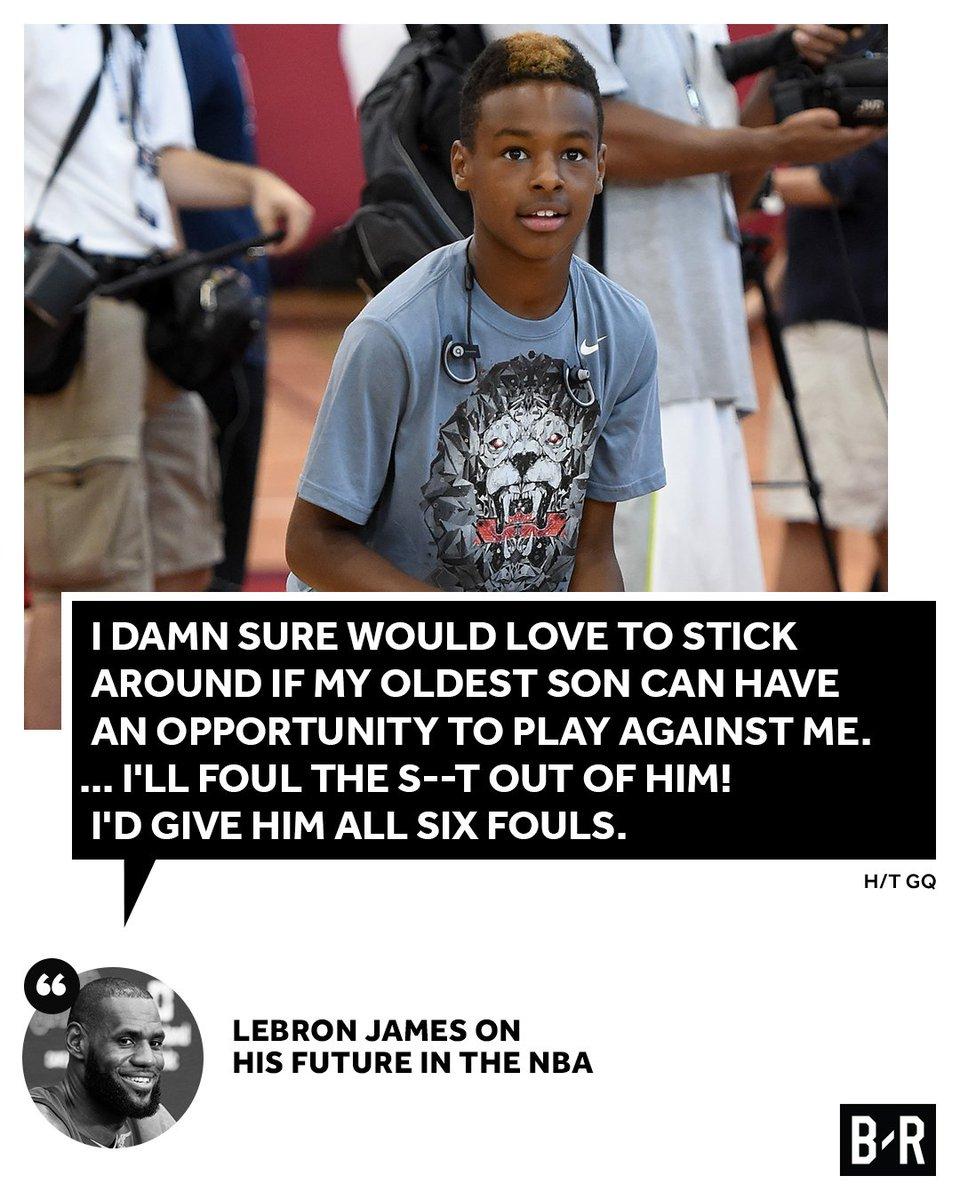 LeBron won't go easy on his son. 😂 https://t.co/nvdgdo7LuT