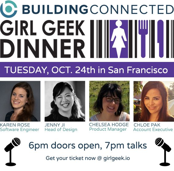 BuildingConnected Girl Geek Dinner