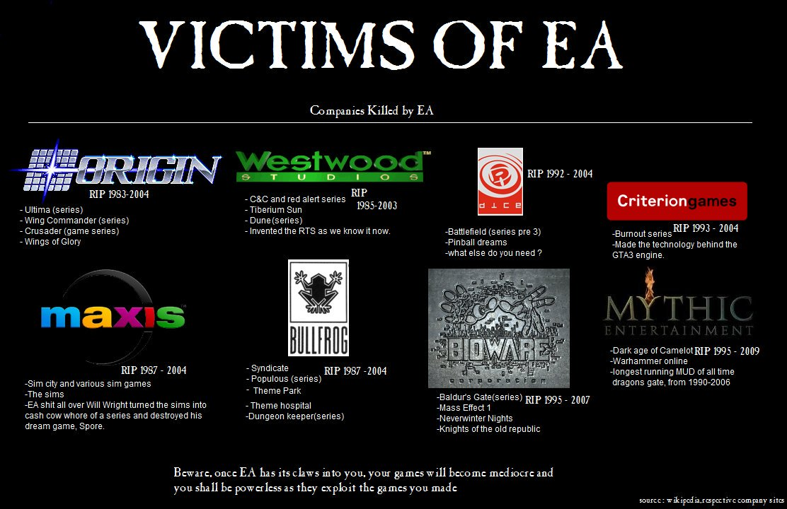 EA has claimed another victim: Visceral Games, the studio behind the Dead Space series.  #RIP #VisceralGames<br>http://pic.twitter.com/y3XcoQ6rGk