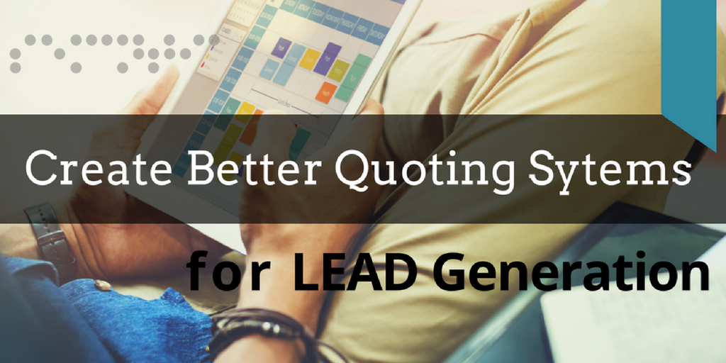 Quoting Systems for #leadgeneration. A strategy for industry leaders to #SME #SMB small business. #marketing  https:// goo.gl/CrZrsU  &nbsp;  <br>http://pic.twitter.com/T9Nq7wfD1E