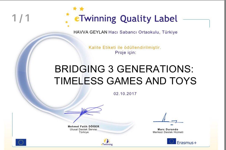Bridging Generations 3
