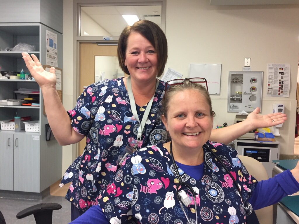 2 of our amazing NRT Nurses #twinning in the SDS EU #RN #RPN #dreamteam #NRTStrong #myHHS @HHS_staff @HamHealthSci<br>http://pic.twitter.com/t4o906De6d