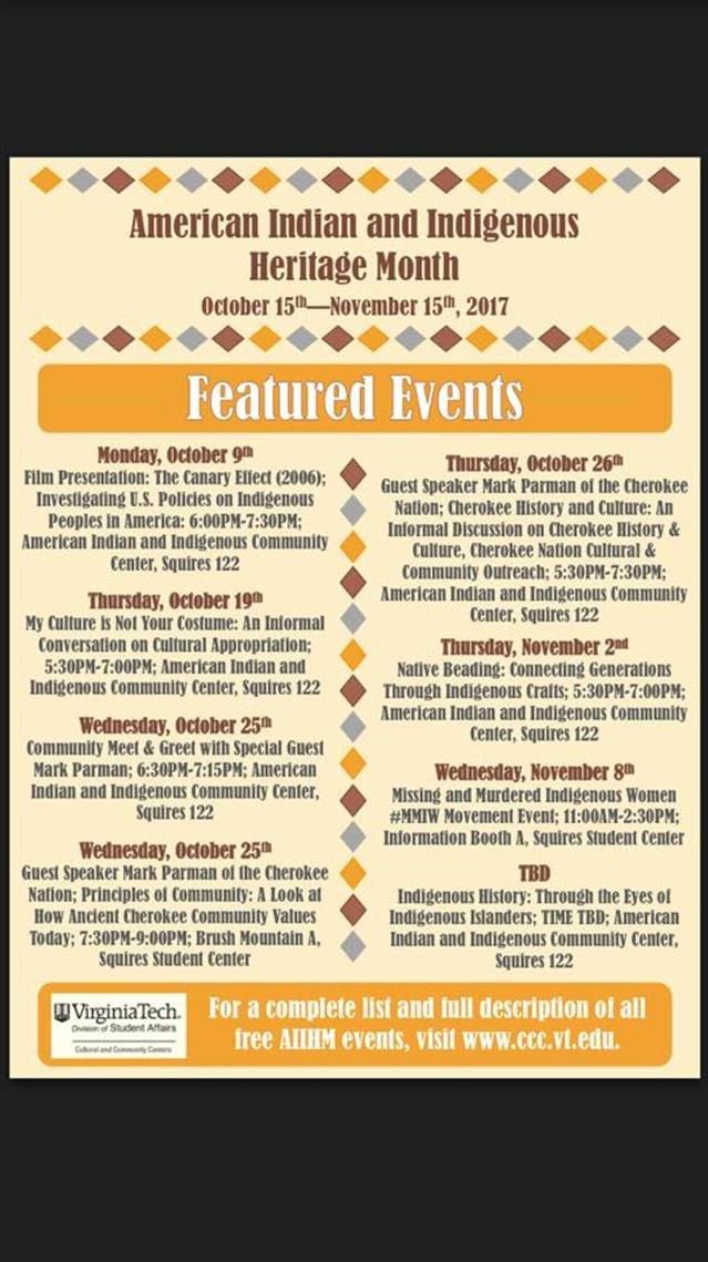 Virginia Tech Calendar.Virginia Tech Ccc On Twitter The Calendar For American Indian And