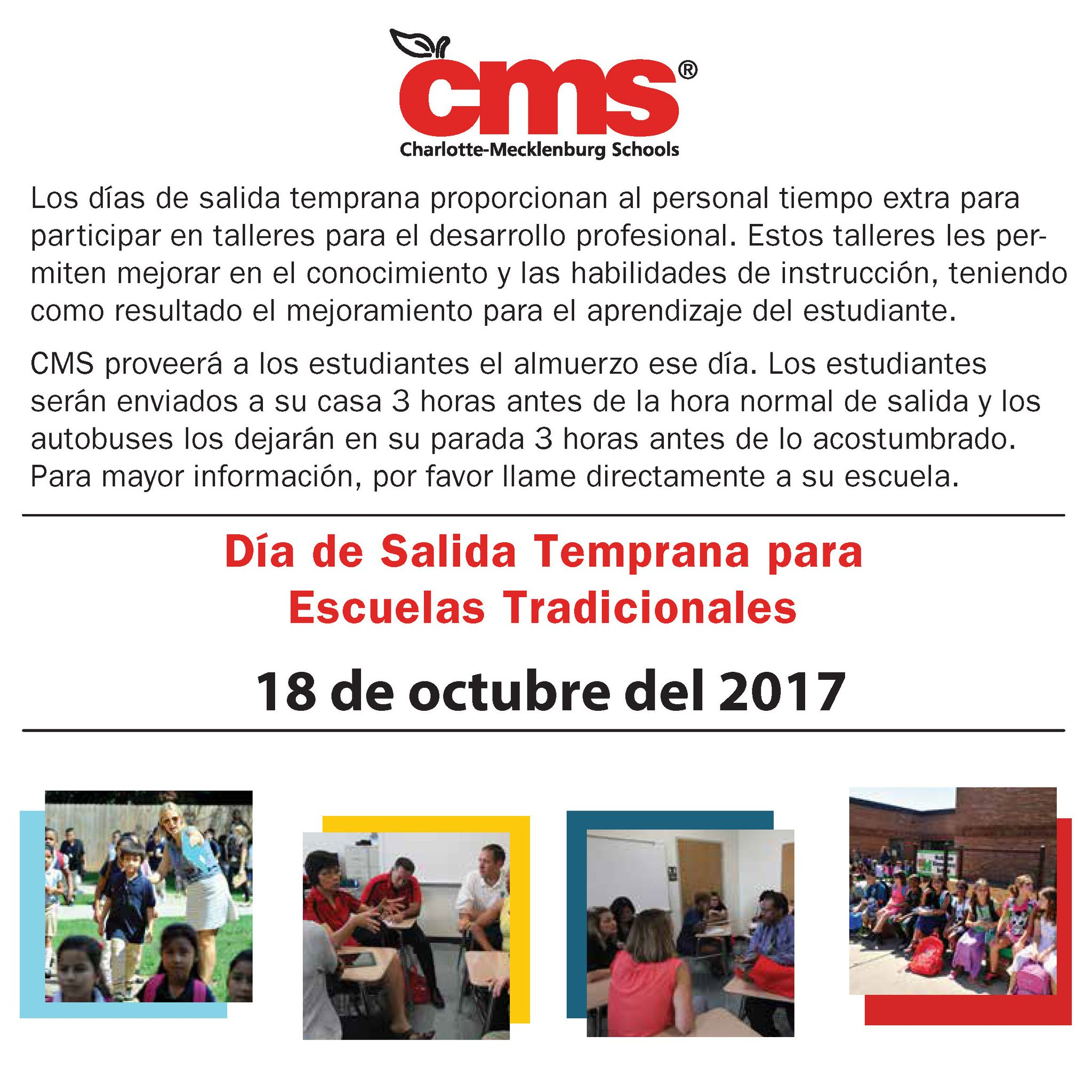 "CMS on Twitter ""All traditional school dismissal times and CMSbus"