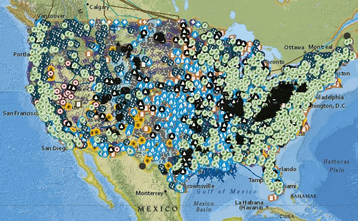 ASHE NCWV ASHENCWV Twitter - Us energy mapping system