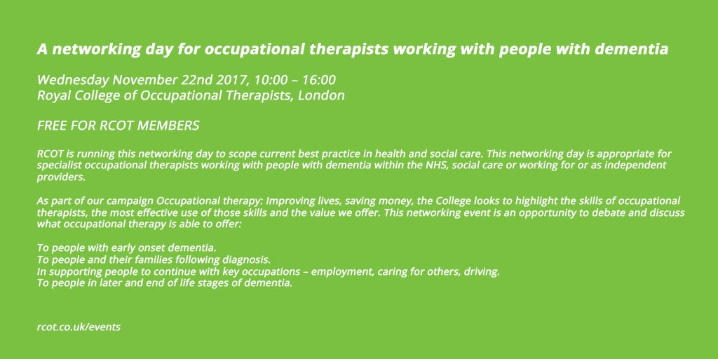 Royal College Of Occupational Therapists On Twitter Calling