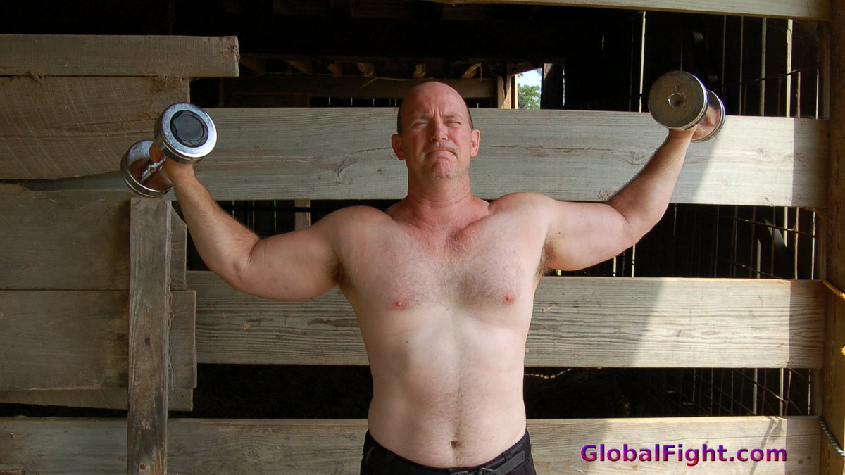 My  http:// GLOBALFIGHT.com  &nbsp;   rancher pal #louisiana #farm #ranch #barn #muscles #man #men #son #farmers #bearcub #cute #hunk #weightlifting<br>http://pic.twitter.com/r1npIoXmEk