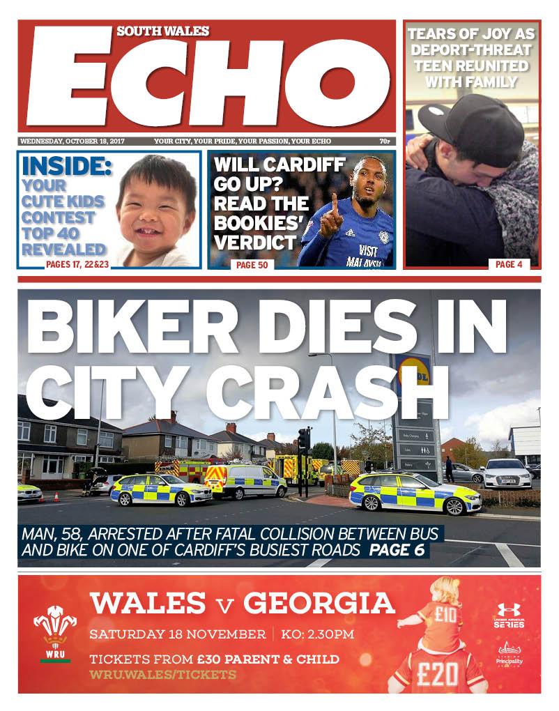 Tomorrow's South Wales Echo...