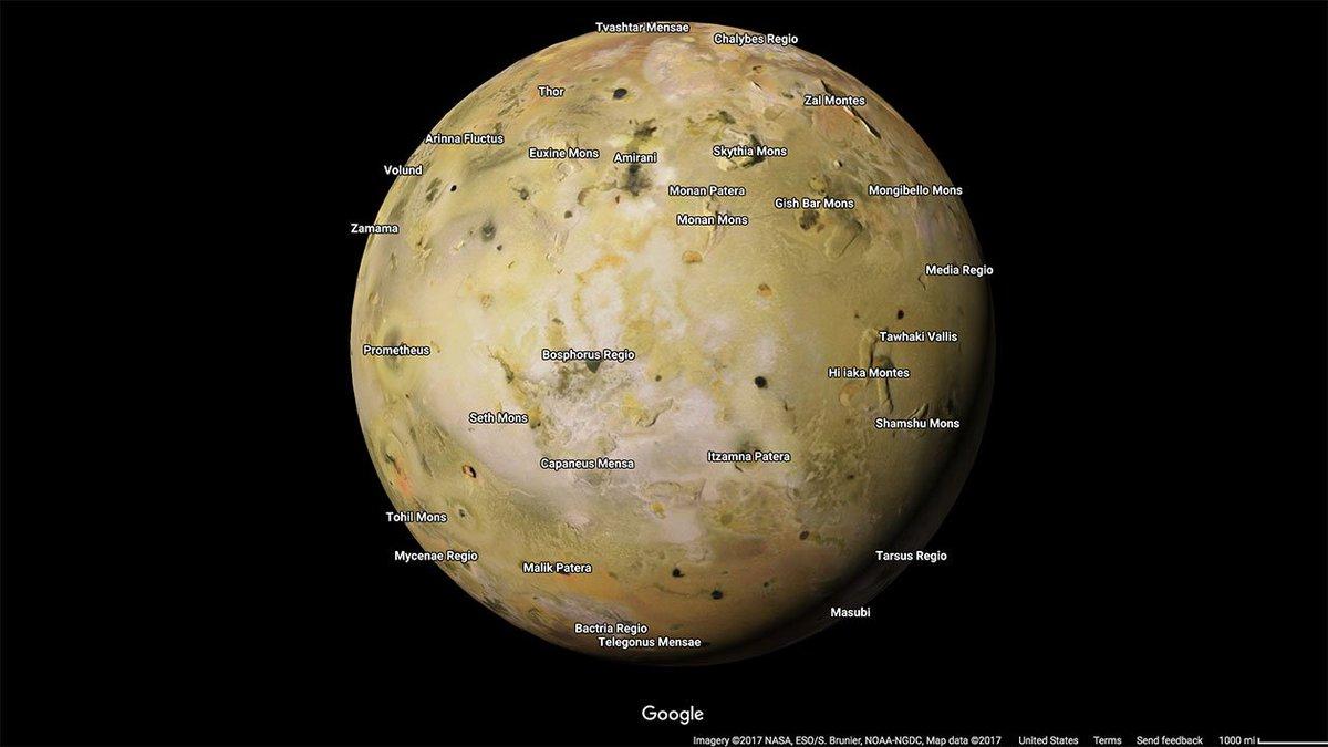 Fuja da Terra por alguns instantes visitando novos planetas adicionados a versão espacial do Google Maps https://t.co/frYTshHgSd