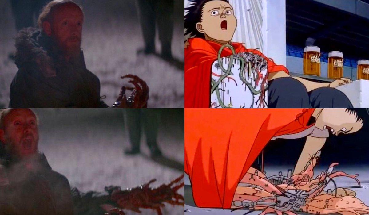 The Thing/Akira  #sidebyside #akira #johncarpenter #animation #influence #anime #movies #cinema #film #thething<br>http://pic.twitter.com/TwkAGV2PBk