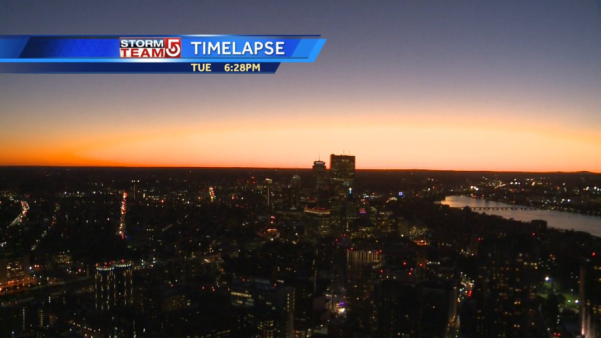 Gorgeous Tue. evening sky 29 minutes after sunset #wcvb