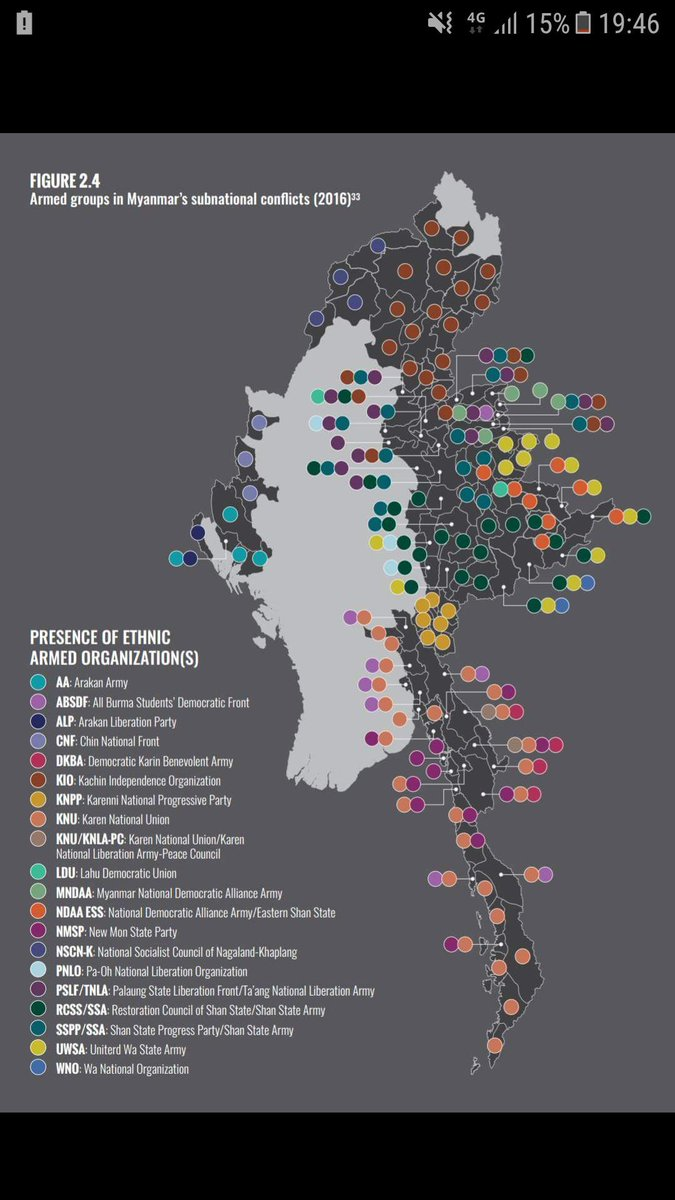 When people say #Myanmar peace process is #complex it sounds trivial. But one look at this Asia Foundation map explains why that&#39;s the case: <br>http://pic.twitter.com/xjeBWWJWYs