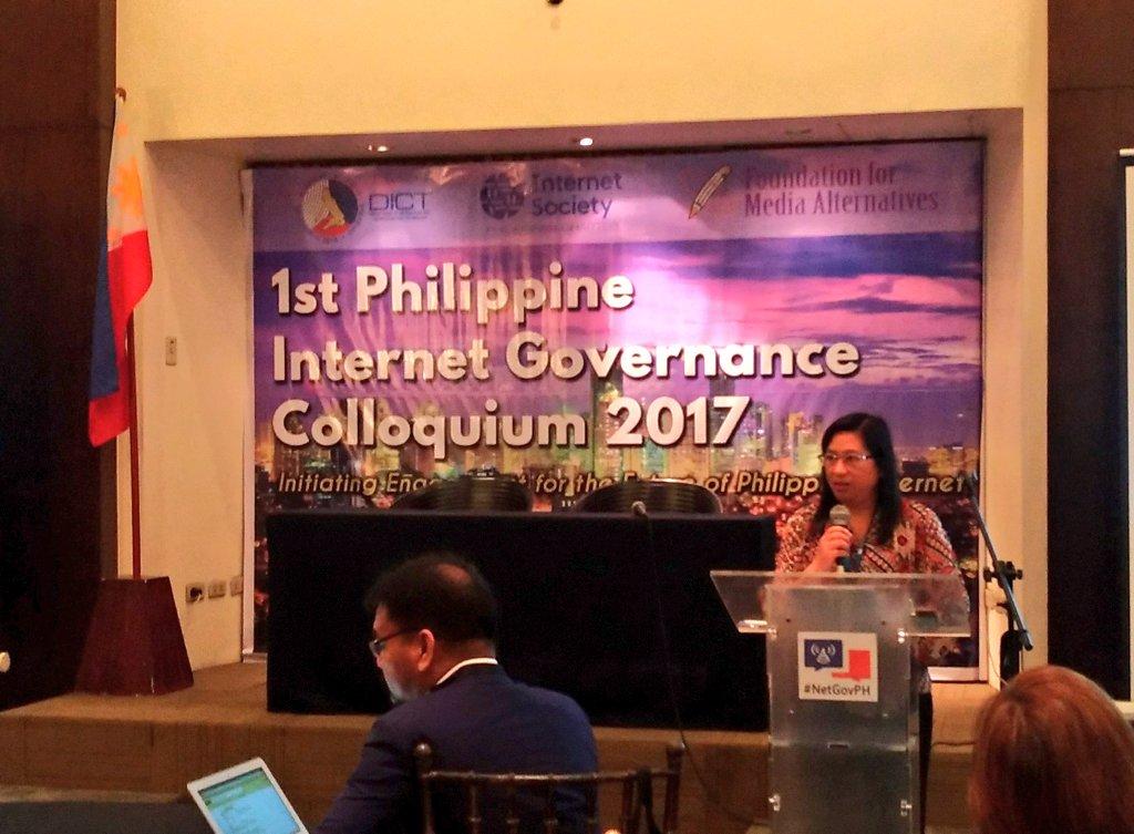 NOW: @DICTgovph @FMA_PH #ISOCPH organizes 'The 1st Philippine Internet Governance Colloquium 2017' #PHinternet #NetGovPH | @bobreyes
