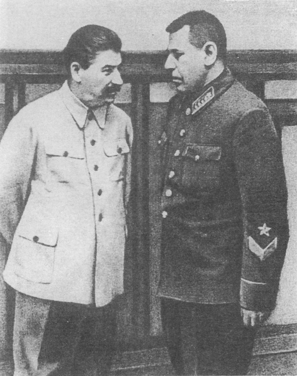 Joseph Stalin with his most trusted military advisor, Boris Shaposhnikov.