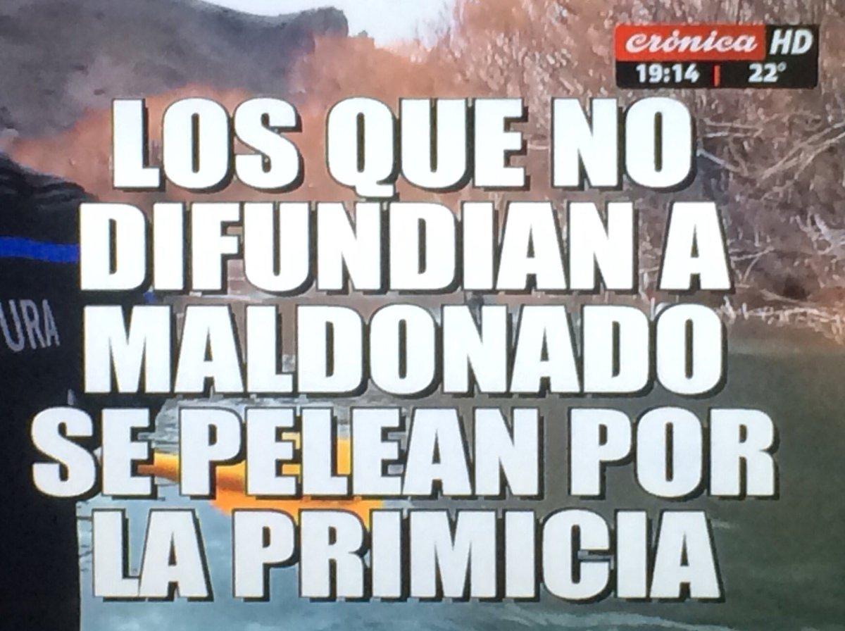 Maldonado: la dura placa de @CronicaTV contra los medios y periodistas...