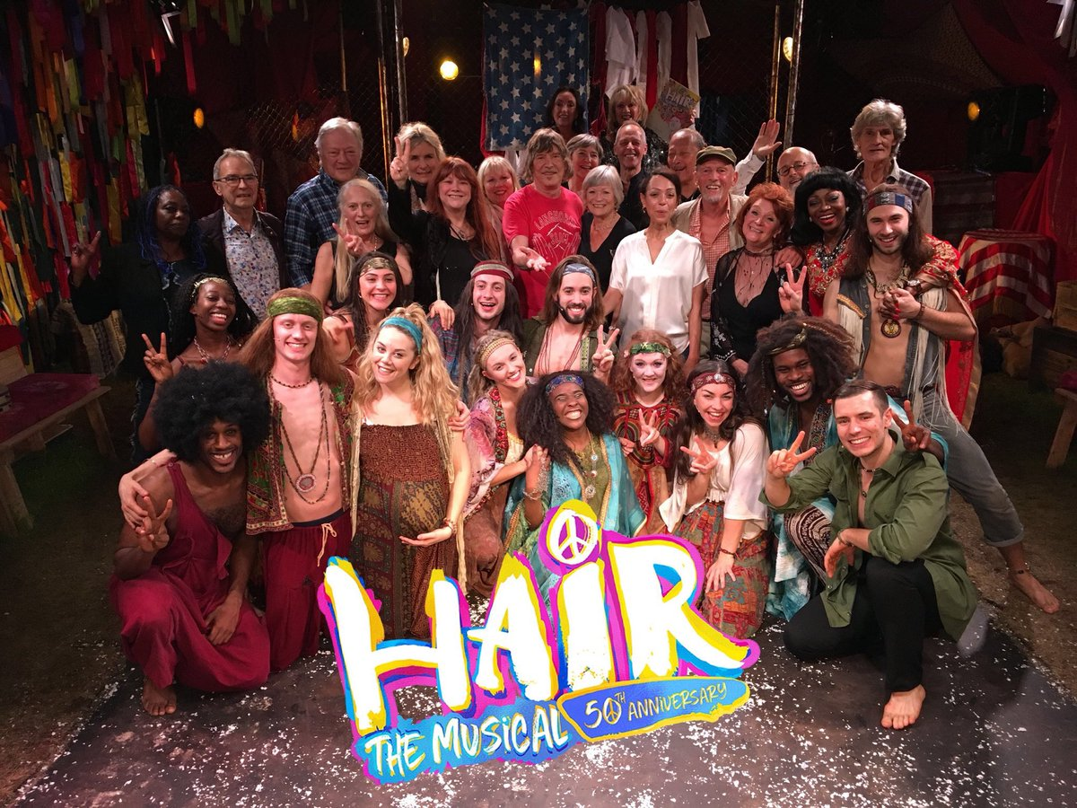 Celebrating 50th Anniversary of @Hair50London along with 17 members of original cast here with current cast @thevaultsuk #JoinTheTribe <br>http://pic.twitter.com/UKUbye2aG1