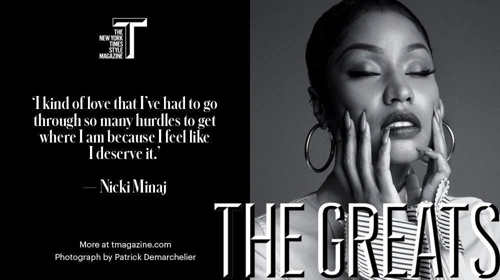 A belief in her gift and her ability to persevere gave @NICKIMINAJ the confidence she needed to be great. #TGreats17 https://t.co/fx5zm82CRE