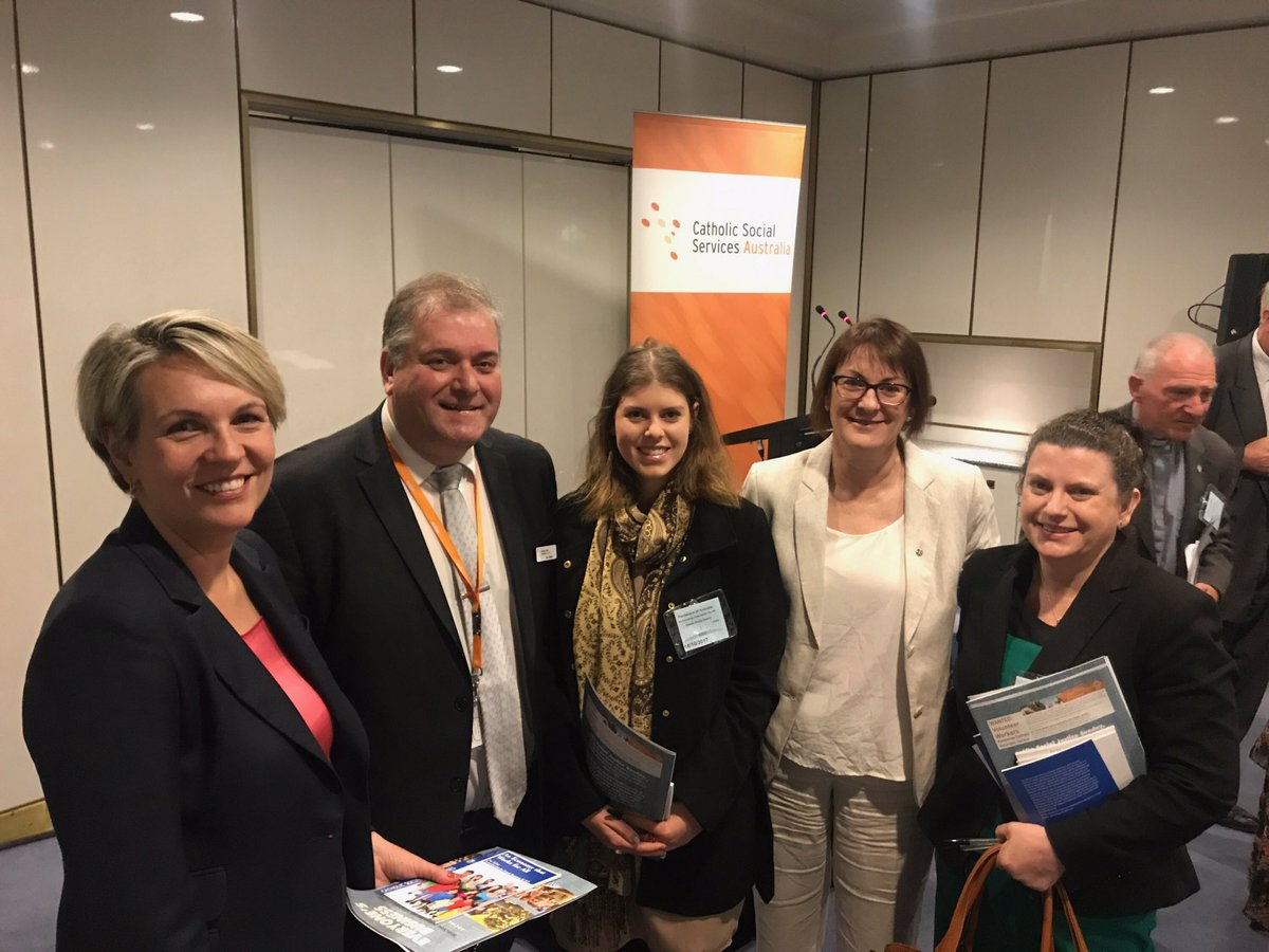 Dropped in to hear Catholic Social Services Australia's contribution t...