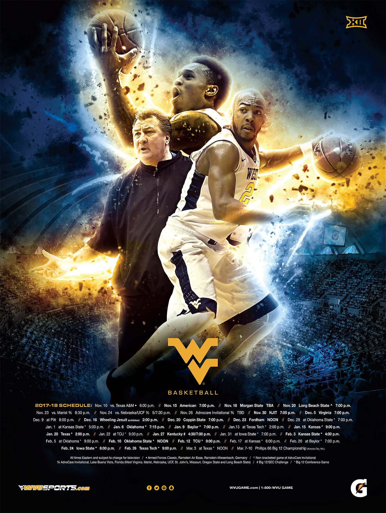 Wvu Basketball On Twitter Quot Here It Is The 2017 18