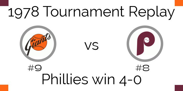 1978 Tournament Results - #Phillies beat #Giants 4-0  http://www. apbareplay.com/1978-tournamen t-results-phillies-beat-giants-4-0/ &nbsp; … <br>http://pic.twitter.com/yPdPc90AkU