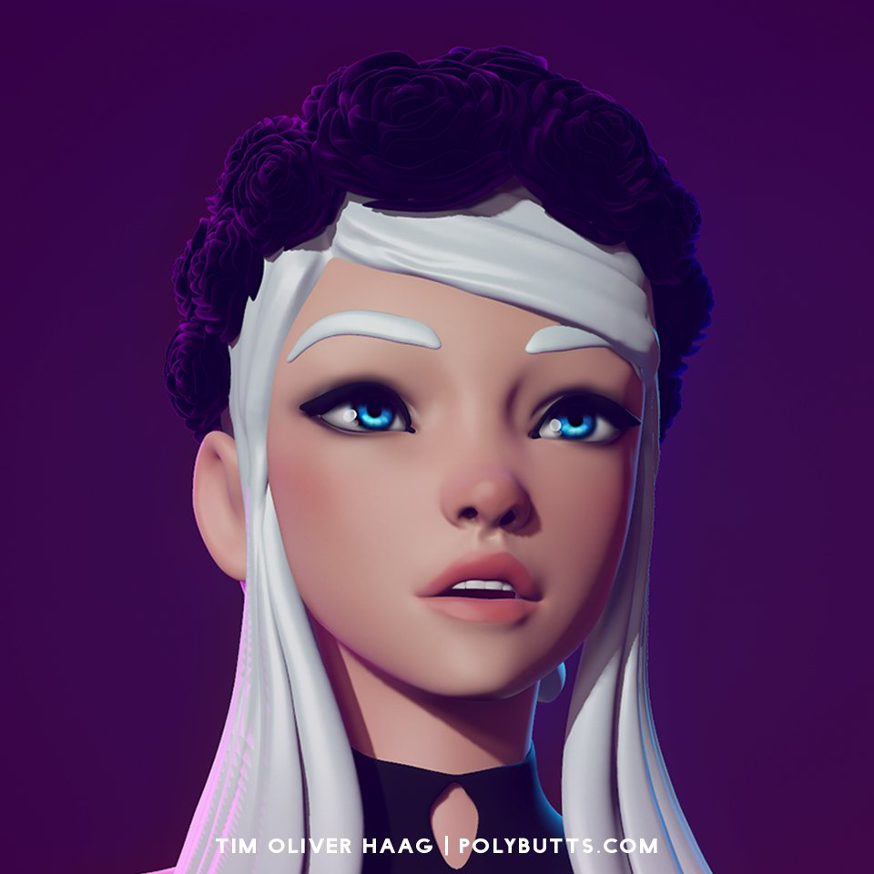 Quick sculpt doodle. I&#39;m still alive! #gameart #gamedev #zbrush #polybutts #polycount #pixologic @polycount<br>http://pic.twitter.com/LASr7TR91Y