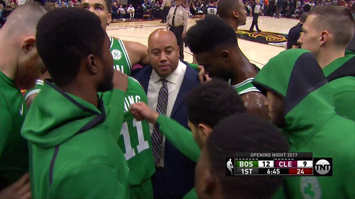 The @celtics huddle after Gordon Hayward injury. https://t.co/ODAjyEnT...