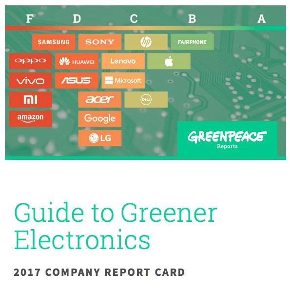 """Résultat de recherche d'images pour """"http://www.greenpeace.org/usa/reports/greener-electronics-2017/"""""""