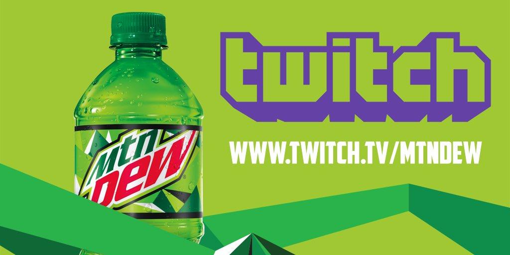 mountain dew on twitter mtndew twitch channel kicks off the week
