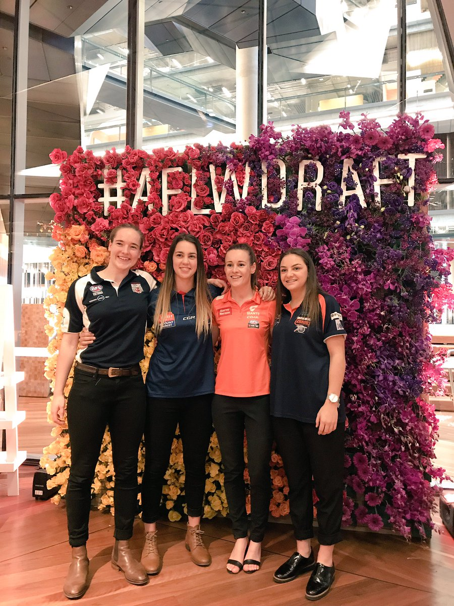 Welcome to the 2017 NAB AFL Women's Draft!   Wishing all our draftees...