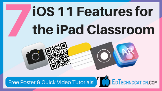 SEVEN iOS11 Features for the iPad Classroom.    http:// bit.ly/2yvY7UH  &nbsp;   by @EdTechnocation   #ipaded #edtech #ios11 <br>http://pic.twitter.com/3OWKf4Jd00