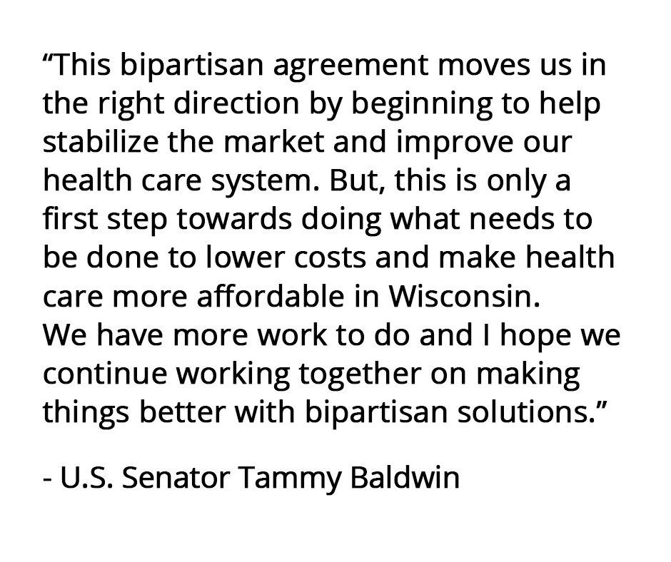 Sen Tammy Baldwin On Twitter My Statement On The Bipartisan