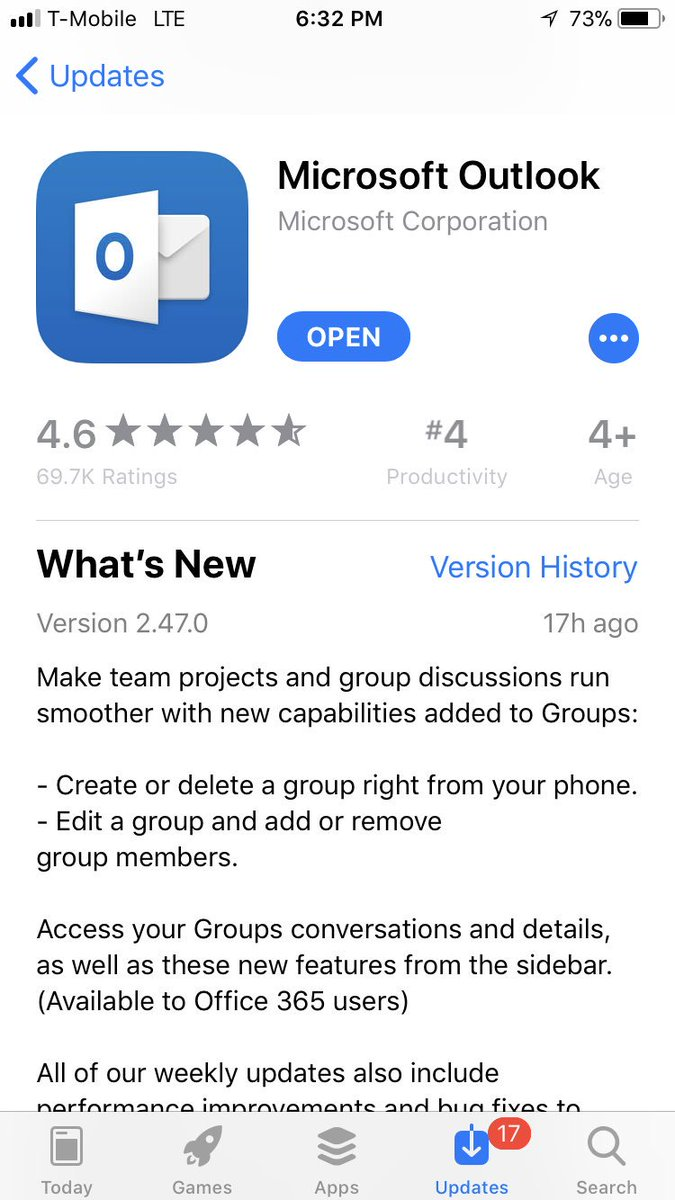 Create, edit, delete groups and manage members from #outlook mobile experience. Android also coming soon!  #Office365Groups<br>http://pic.twitter.com/IoOrdzVlHv