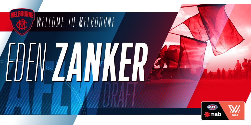 Welcome to Melbourne, Eden Zanker! 🔴🔵  The ex-netballer is our first s...