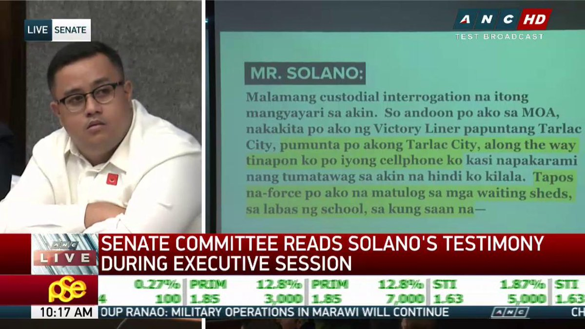 Solano went into hiding in Tarlac, Pangasinan, slept in streets, threw away phone.   LIVE: https://t.co/12TzdH2ifz