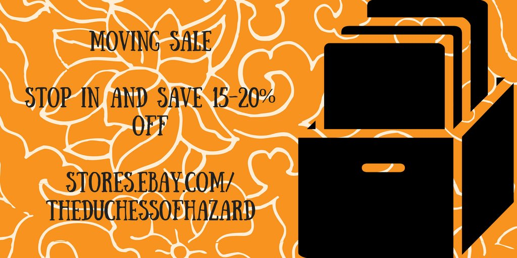 #Moving #Sale at  http:// stores.ebay.com/theduchessofha zard &nbsp; … . It&#39;s time to move back home; great time to shop &amp; save 15-20% off. #ebay #deals<br>http://pic.twitter.com/rlIydewpKp