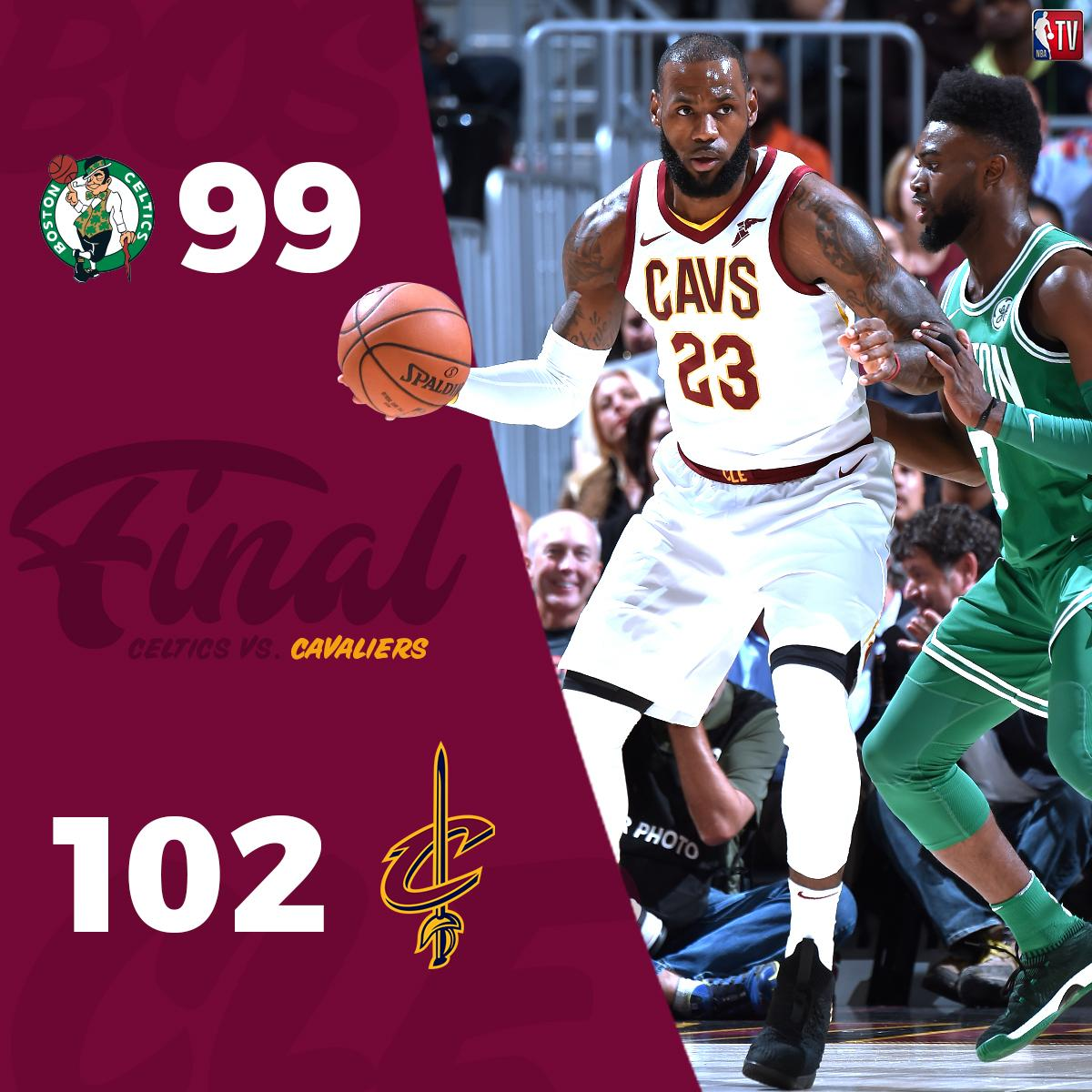 The @cavs defeat the @celtics in the first game of the NBA regular season. #AllForOne