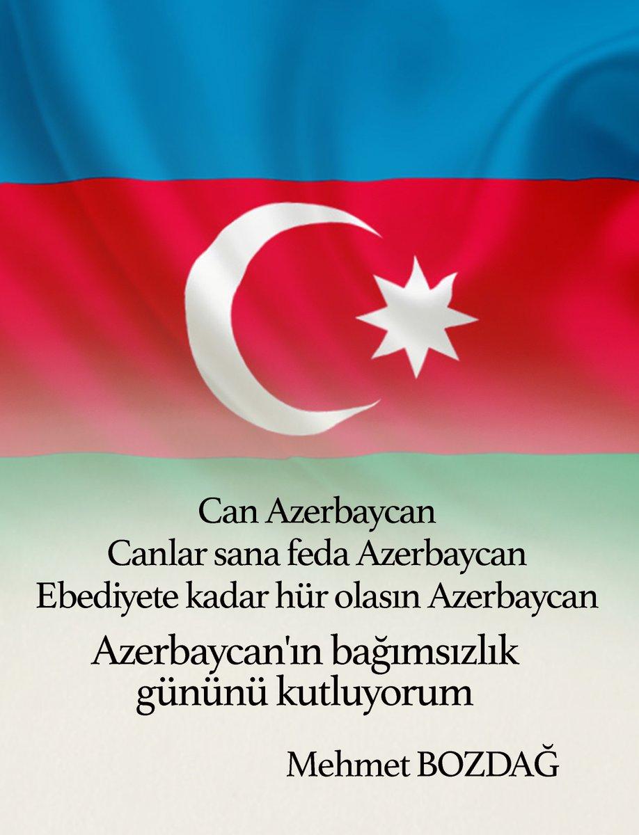 Azerbaycan'ın bağımsızlık gününü kutluyorum. #Azerbaycan https://t.co/...