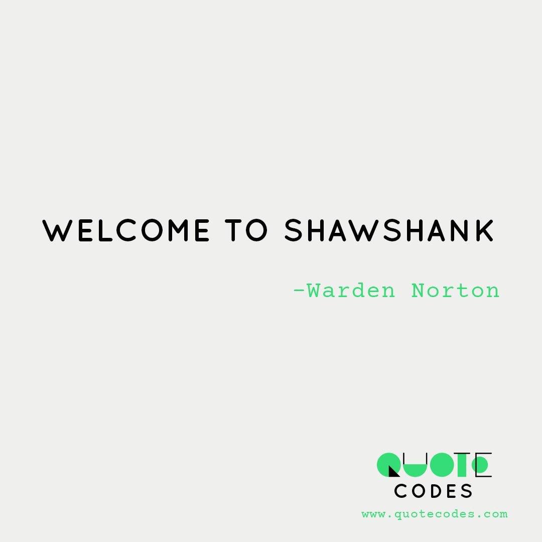 Welcome to Shawshank #WardenNorton #TheShawshankRedemption #timelessmovies #epicmovielines #quotecodes #indie #indiedev #ios #gamedesign<br>http://pic.twitter.com/aoKkfWY1HB