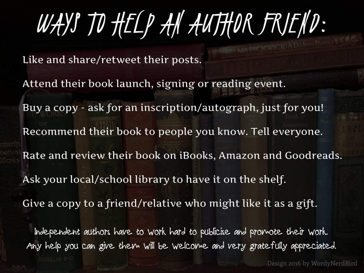 How to #help an #indieauthor &amp; be #amazing.   Follow, share, retweet, rate, review, = all free<br>http://pic.twitter.com/030c82FkLX